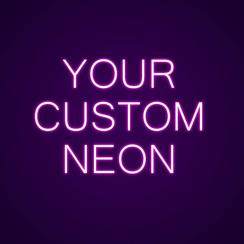 custom neon text