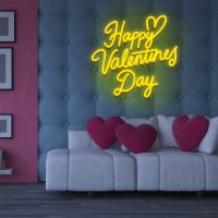 Happy Valentines Day Neon Light