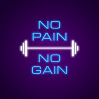 No Pain No Gain Neon Light