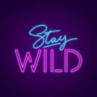 Stay Wild Neon Lights