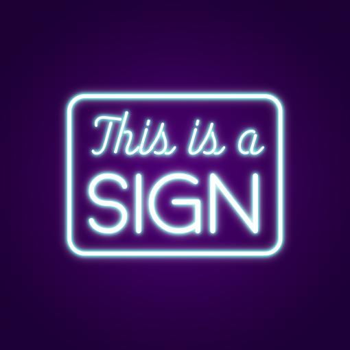 This is a Sign Neon Light