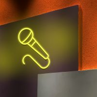 Microphone Neon Light