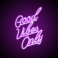 Good Vibes Quote Neon Lights