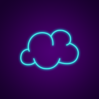 Clouds Neon Sign