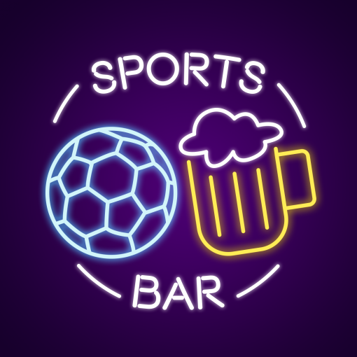 Awesome Sports Bar Neon Sign