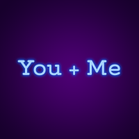 You + Me Neon Neon Light Signs