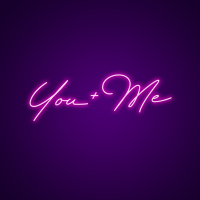 You + Me Neon LED neon signs
