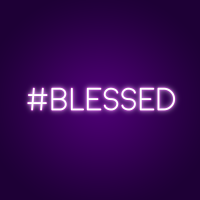 #Blessed Neon Sign